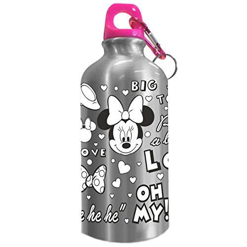 Disney-KD-WD19591 Botella cantimplora 500ml coloreable de Minnie Mouse, Multicolor, (Kids Euroswan KD-WD19591)