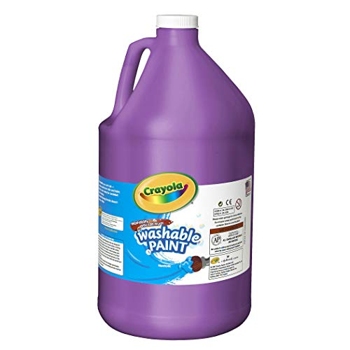 Crayola Washable Paint, Purple Paint, Classroom Supplies, 1 Gallon, Violet
