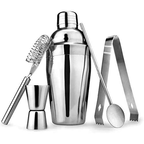 Release Juego de coctelera de 550 ml para camareros Profesionales y Bares Familiares 5 Piezas de coctelera Boston