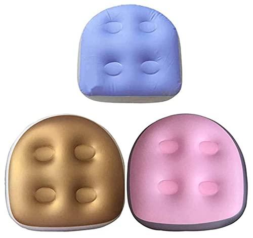Spa Massage Kissen aufblasbares Whirlpool Kissen,Spa Kissen Aufblasbares Spa Booster Sitz Kissen,Spa MassageKissen mit Saugnäpfen für Spa Whirlpool Badewanne (Blau+Rosa+Gelb)
