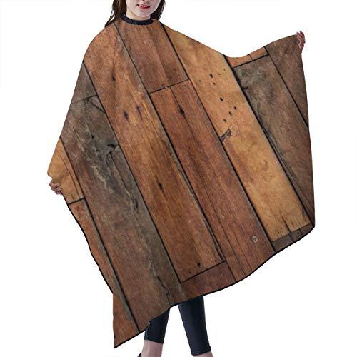 GAHAHA Friseurumhang für Friseursalon, Holzboden, Friseursalon, Stoff, Färben, Haarschutz, lange Wickelschürze, 140 x 168 cm