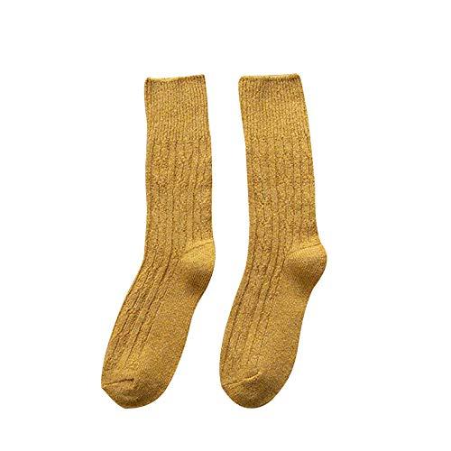 Hunpta@ Dicke Stricken Socken Mode Frauen Damen Winter Warm Atmungsaktivität Einfarbig Norwegersocken