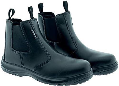 AboutBlau 1937105LA S3 SRC DGUV 112-191, B-Light, zapato de seguridad impermeable, unisex, schwarz, piel, Größe 45