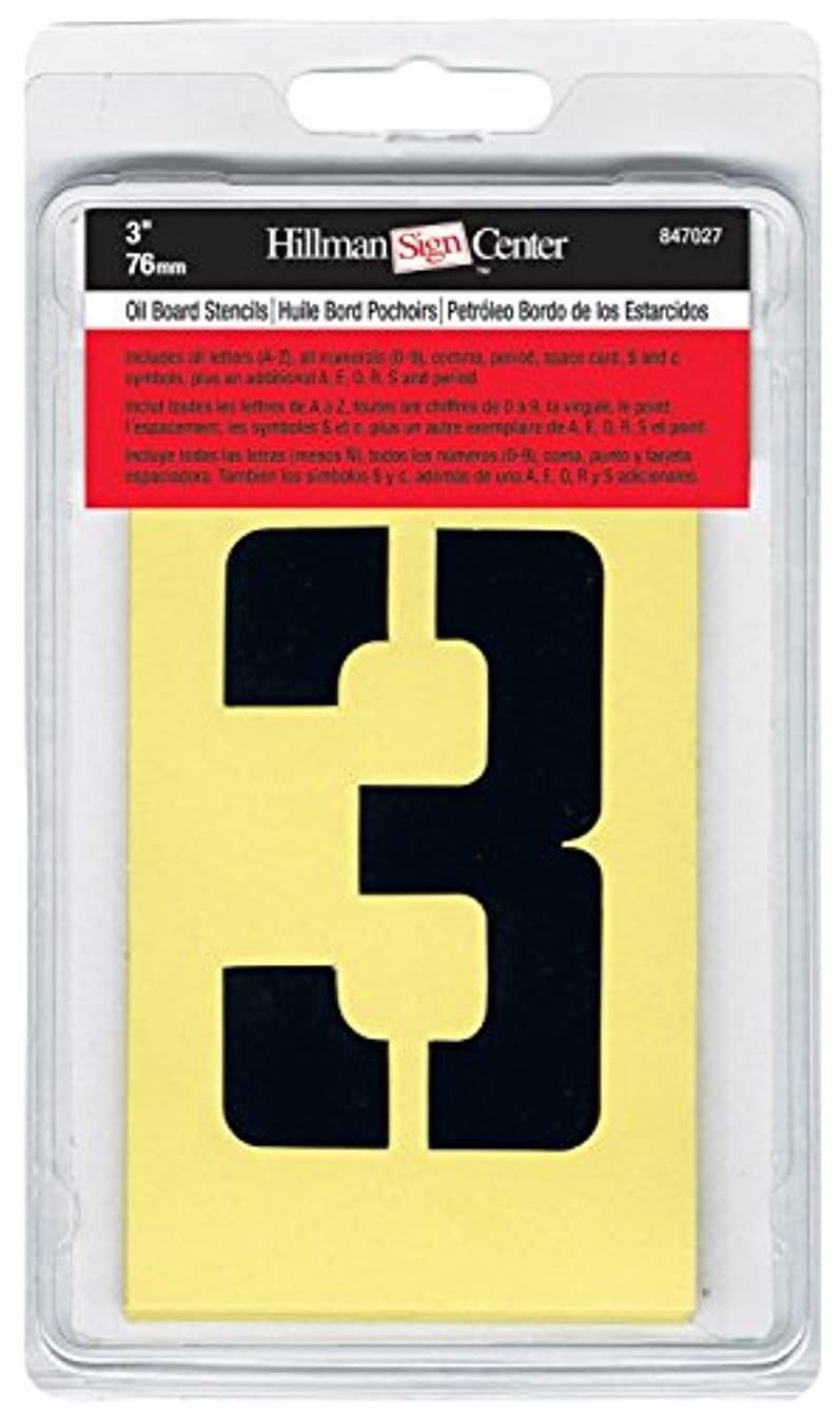 The Hillman Group 3 in. Cardboard Letters and Numbers Stencils Set (1)