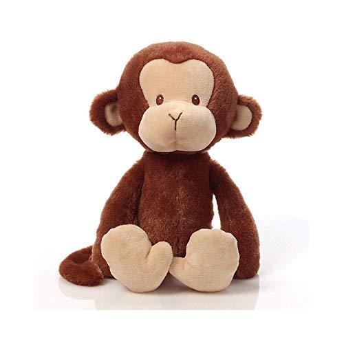WNSS9 20cm Chubby Affe Plüschtiere Kinder schlafen Hugging Kissen Kissen weicher Baumwolle Plüsch-Puppe Simulation Affe-Puppe Figur Baby-Begleite Schlaf-Spielzeug-Weihnachtsgeschenk (Brown)