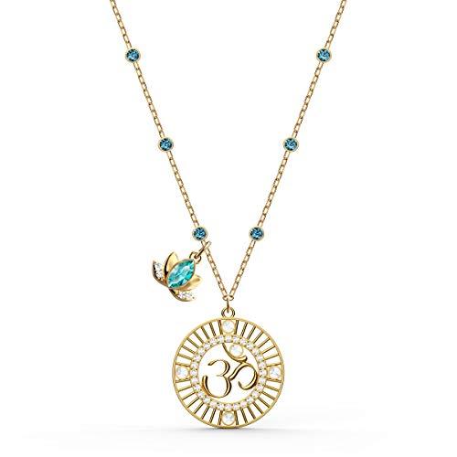 Swarovski Pendente Symbolic Lotus, Verde, Placcato Color Oro