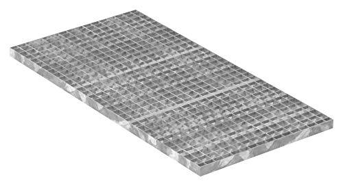 Fenau | Gitterrost/Industrie-Rost/Garagen-Rost, Maße: 1000 x 500 x 30 mm, MW: 30/30 mm, Materialstärke: 2 mm - Radlast: 1,52 kN/Flächenlast (m²): 7,84 kN, feuerverzinkt, Pressrost