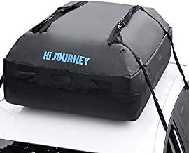 rabbitgoo Rooftop Cargo Carrier Waterproof Car Roof Top Cargo Bag with Heavy Duty Straps, Soft Shell Luggage Storage Bag for Vehicles with/Without Roof Racks, Large Capacity 15 Cubic Feet
