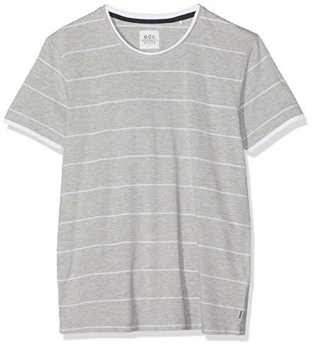 edc by ESPRIT Herren 069CC2K014 T-Shirt, Grau (Medium Grey 035), Large (Herstellergröße: L)