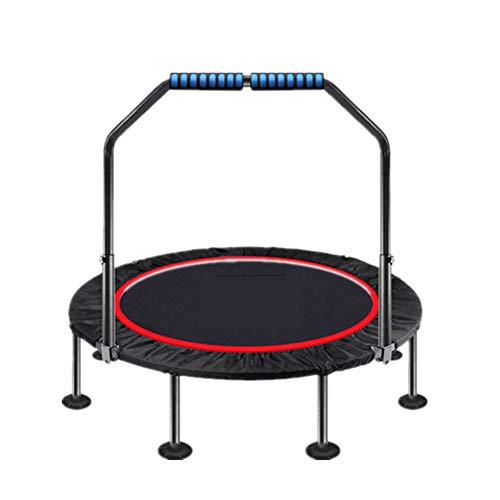 ZL Fitness-Trampolin, Trampolin Faltbar, 3 Höhenverstellbarer Haltegriff Jumping Trampolin Inkl. Randabdeckung, Nutzergewicht Bis 250Kg, Für Indoor/Outdoor,A,1m