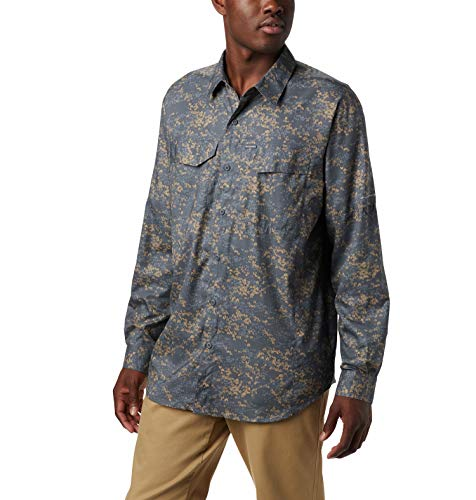 Columbia Men's Silver Ridge Lite Plaid Long Sleeve Shirt, Beach Tent Camo Print,Large