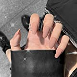 Barode Matte Fake Nails Fashion Full Cover Acrylic Coffin False Nails Punk Party Prom Clip...