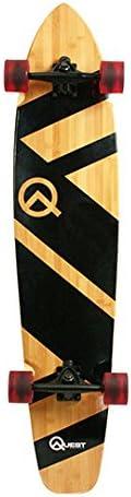 "Quest QT-NSC44C The Super Cruiser The Original Artisan Bamboo and Maple 44"" Longboard Skateboard,Black"