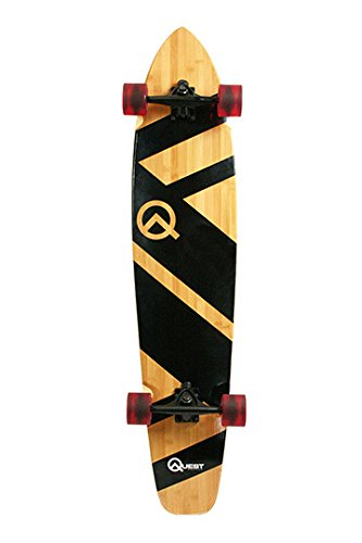 "Quest QT-NSC44C The Super Cruiser The Original Artisan Bamboo and Maple 44"" Longboard Skateboard,Black"