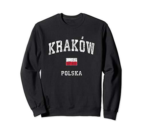 Krakow Poland Polska Vintage Athletic Sports Design Sweatshirt