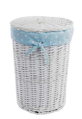 DVier Cesto para la ropa sucia (mimbre, redondo, 34 L, diámetro 32...