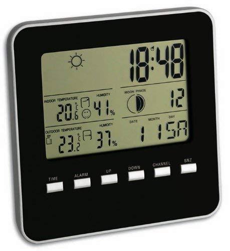 Wetterladen Funk Wetterstation Quadro, Schwarz, 130 x 130 mm