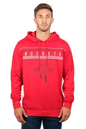 Ultra Game NBA Houston Rockets Mens Fleece Midtown Pullover Sweatshirt, Team Color, Large