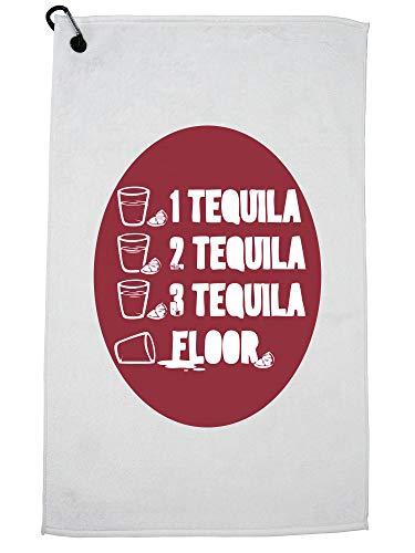 Hollywood-draad 1. Tequila 2. Tequila 3. Tequila Shot Vloer Grafische Golf Handdoek met Karabijnhaak Clip