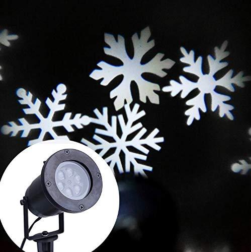 Impermeable al Aire Libre jardín Camino lámpara de proyección luz Interior Navidad Copo de Nieve Blanca iluminación