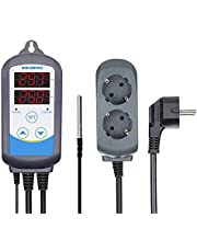 Inkbird ITC-310T-B Temperatuurregelaar, 230V Programmeerbare Timerstekker, 12 Verschillende Temperaturen met 12 Periodes voor Gisting, Maisjes, Bierbrouwen