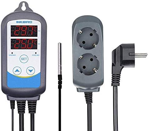Inkbird ITC-310T-B Temperaturregler, 230V Programmierbare Timer Stecker, 12 Verschiedene Temperaturen mit 12 Zeiträumen für Gärung,Maischen,Bierbrauen