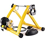 WWGD Faltbar Cycletrainer,Übung Magnetischer Ständer,Rollentrainer,6 Stufen Widerstand...
