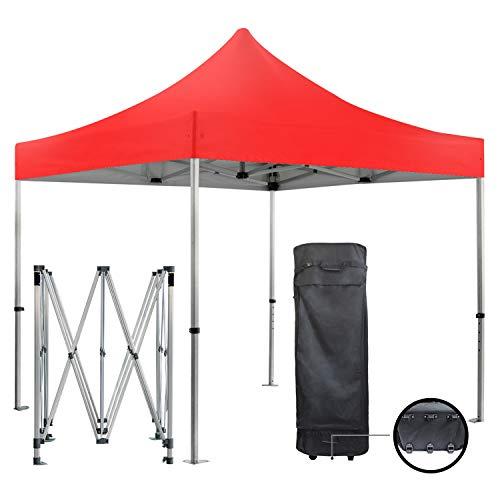 GREADEN Barnum Pliante 3x3m 50mm en Aluminium Premium Pro 520Gr/m2 étanche Rouge Tente de Réception Qualité
