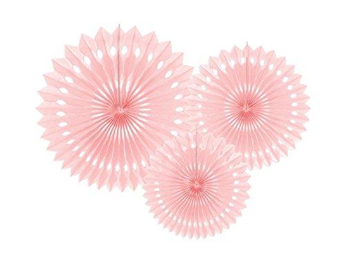 SiDeSo® 3 Rosetten Deko Party Hochzeit Geburtstag (20-30cm rosa)