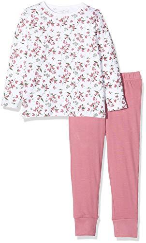 NAME IT Baby-Mädchen 13173282 Zweiteiliger Schlafanzug, Mehrfarbig(Heather RoseHeather Rose), 98 (Herstellergröße: 98-104)