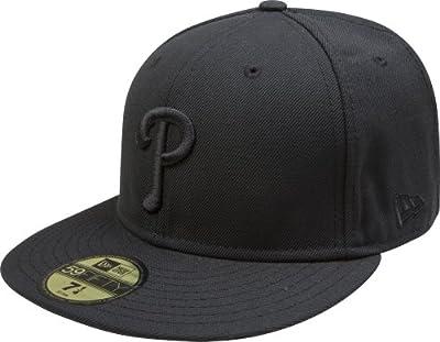 New Era Philadelphia Phillies 59FIFTY Black on Black Fitted Hat