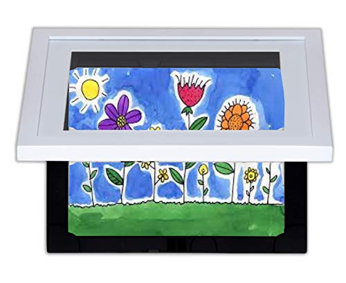 Li'l DAVINCI Art Frames: Front-Opening, EZ Store Wooden Frames That Allow You to Hold up to 50 Items in Each! (White, 8.5 x 11) 50 Off Gift Certificates