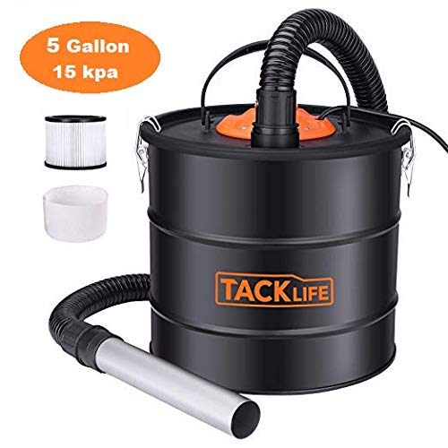 Best Prices! Tacklife Ash Vacuum 4 gal 4.5 Amp with Double Filtration System 1.2M Metal Hose/5M Powe...