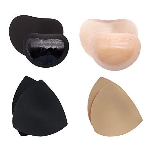 Relleno Bikini Push Up Autoadhesivo, Inserto de relleno de sujetador de gel con inserciones de sujetador transpirables Spong transpirables Para trajes de baño Bikini Traje de baño Deportes - 4 pares