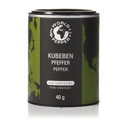 Kubebenpfeffer - World of Pepper - 40g - schwarze Pfefferkörner - Schwarzpfeffer aus Indonesien - Premium Qualität mit Zufriedenheitsgarantie