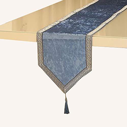 Chemin De Table en Dentelle avec Pompons, Table à Manger Comptoir De Bar, Meuble TV, Armoire De Véranda,(Color:C,Size:32×180cm)