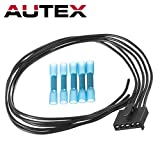AUTEX 1pc Blower Motor Resistor Connector Wiring Harness Assembly WPT1285 Compatible with FORD FUSION 2010 2011 2012 2013 2014 2015/LINCOLN MKZ 2010 2011 2012 2013 2014/MERCURY MILAN 2010 2011