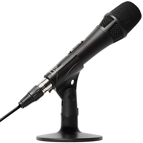 Marantz Professional M4U - Micrófono de Condensador USB con tarjeta de sonido, Soporte de sobremesa para proyectos de Podcast, Streaming, Juegos, transmitir audio y grabar instrumentos musicales o voz