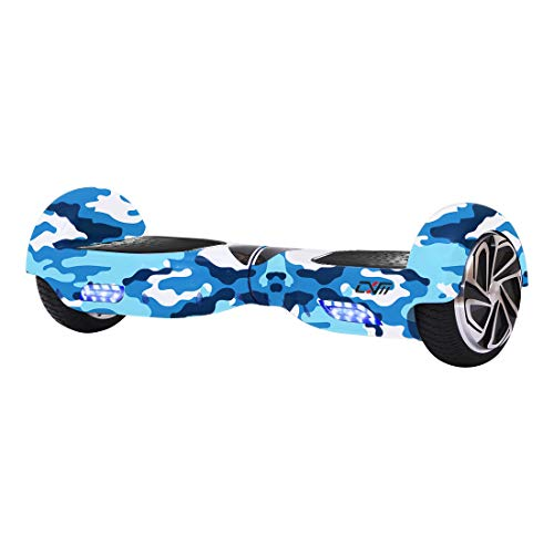 CXM-Hoverboard UL 2272 Certified Self Balancing Electric Scooter 6.5' for Adult and Kids with LED Light and App (CXM 6.5', Blue Military)