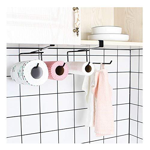 VPbao 1pc Hanging Paper Towel Rack Hanger Over The Door Paper Towel Holder...