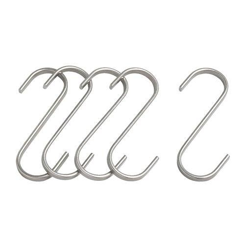 Ikea Grundtal - Ganci a S in acciaio INOX, 7 cm, 5 pezzi