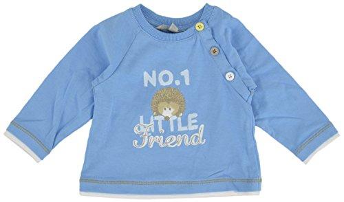 Kanz Kanz Baby - Jungen T-Shirt 1512441, Einfarbig, Gr. 74, Blau (Alaskan Blue Blue 3350)