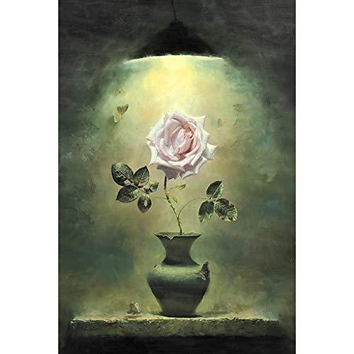 WUJINJ Exquisito Sueño Creativo Rosa Adulto 500/1000/150 Piezas De Juguetes Educativos Para Niños Regalo Divertido Pintura al óleo Decoración de Flores Rompecabezas de Madera, madera, 1000PC