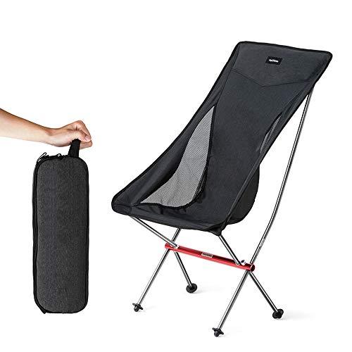 WYZQQ Klapstoel voor buiten, met ergonomische rugleuning en comfort, met tas voor wandelen, picknick, reizen, strand en camping