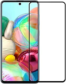 Muzz 9H Anti-Explosion Glass Screen Protector for Samsung Galaxy A71 (Black)