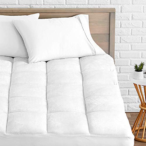 Bare Home Pillow-Top Queen Mattress Pad - Premium Goose Down Alternative - Overfilled...