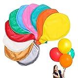 Globos Gigantes de Fiesta, 10 Piezas Globos Grandes 90 cm de Látex, Gigante Globos de Colores para Fiesta Cumpleaños Bodas Bautizo Graduación Navidad Carnaval Celebraciones (Colores)