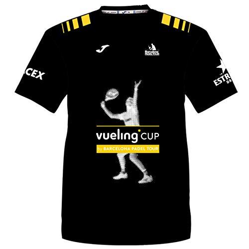 Barcelona Padel Tour | Camiseta Manga Corta Técnica Vueling Cup Hombre | Estampación Especial de Pádel | De Tacto Suave y Secado Rápido | Ropa Deportiva Negra XXL