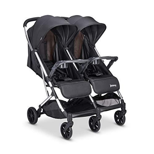 Joovy Kooper X2 Double Stroller, Lightweight Stroller, Compact Fold with Tray, Black