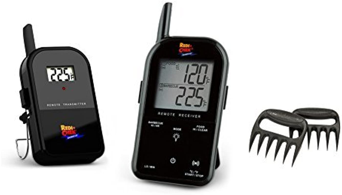 Maverick Wireless Barbecue Thermometer Black ET732 Includes Bear Paw Meat Handlers